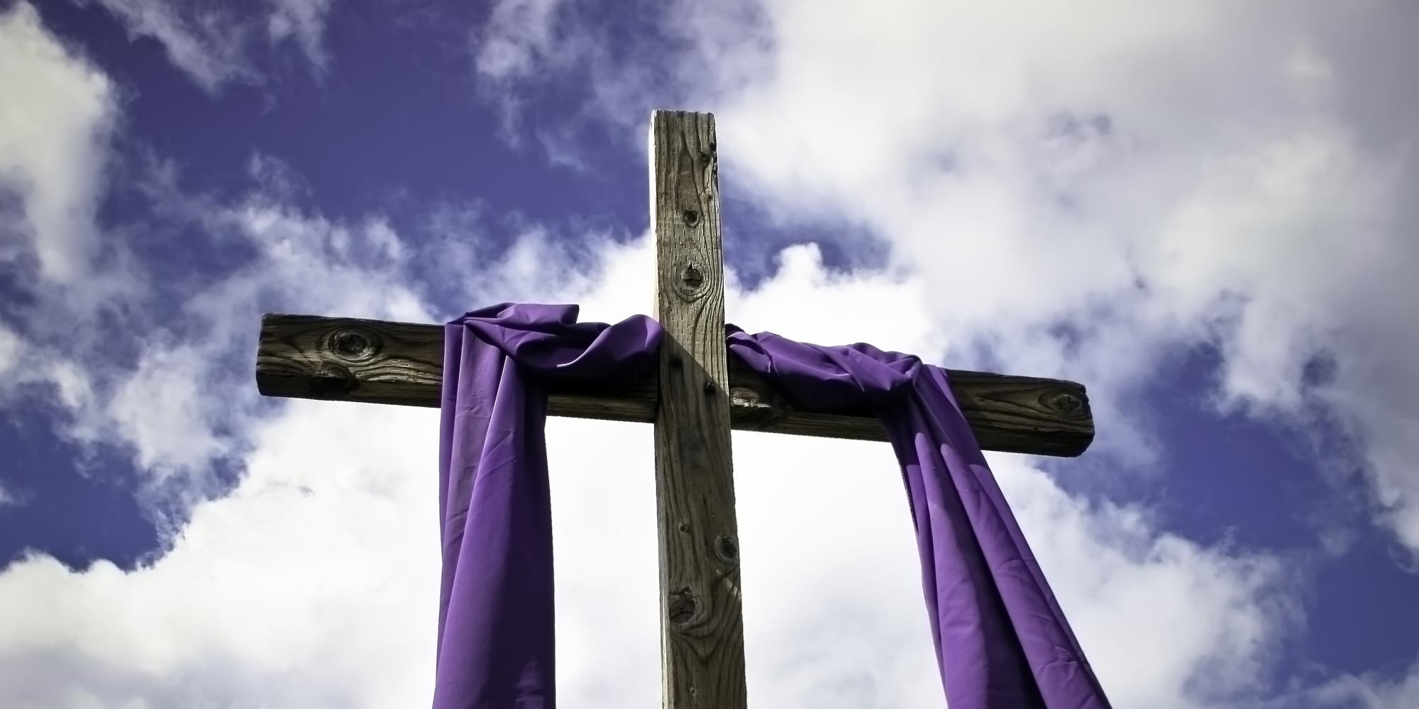 Lenten Wrapped Cool Cross Silhouette